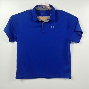 Under Armour Mens Polo Shirt 3XL XXXL Blue Gray